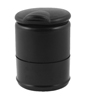 Plastic Smokeless Cylinder Shape Cigarette Ashtray Holder Black for Office House
