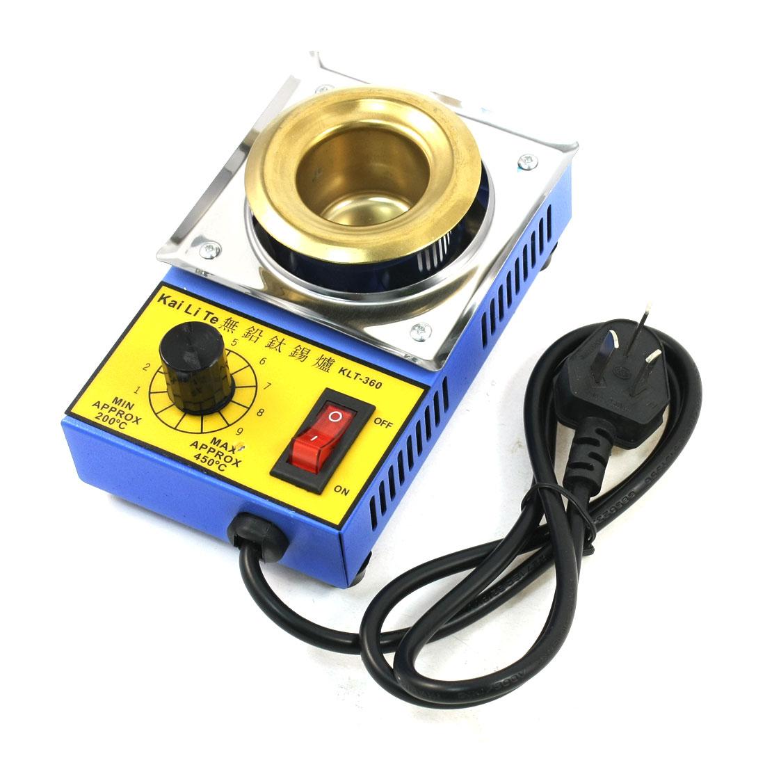 100W AC 220V Lead Free Round Solder Pot Desoldering Bath 150x92x62mm AU Plug