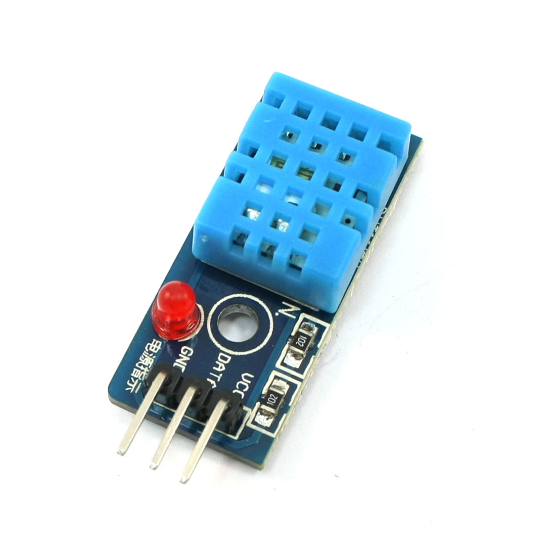 Digital Temperature Humidity Sensor Module Board 3 Pin Blue DC3.3V-5V