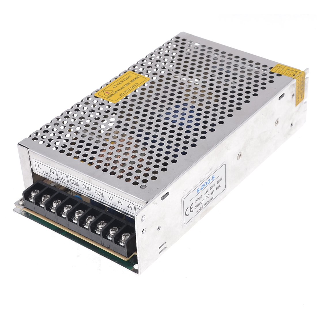 S-200-5 Aluminum Housing Output DC 5V 40A LED Switching Power Supply