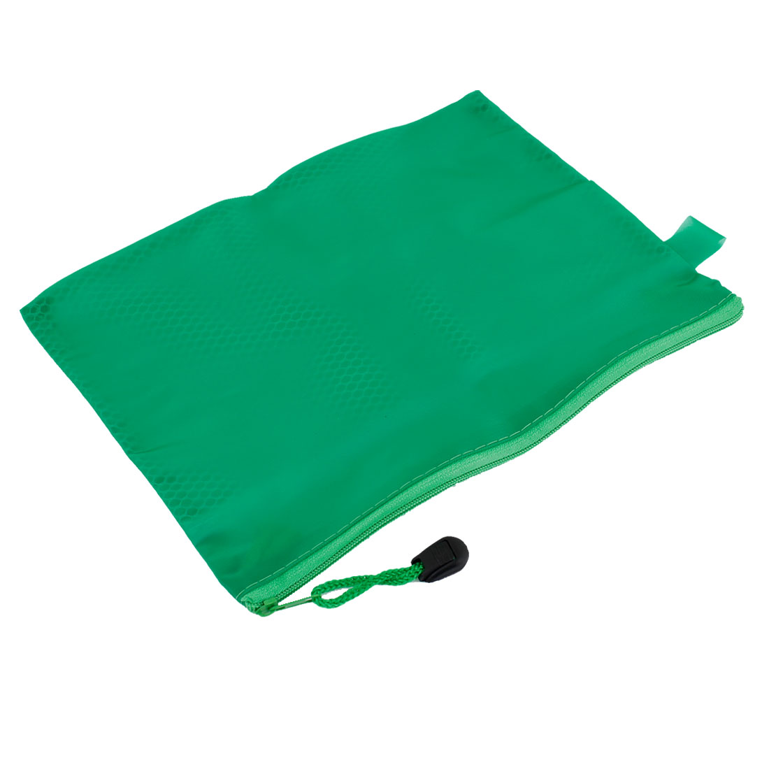Office School Meshy Inside Green PVC Zipper Stationery Case Pouch Bag