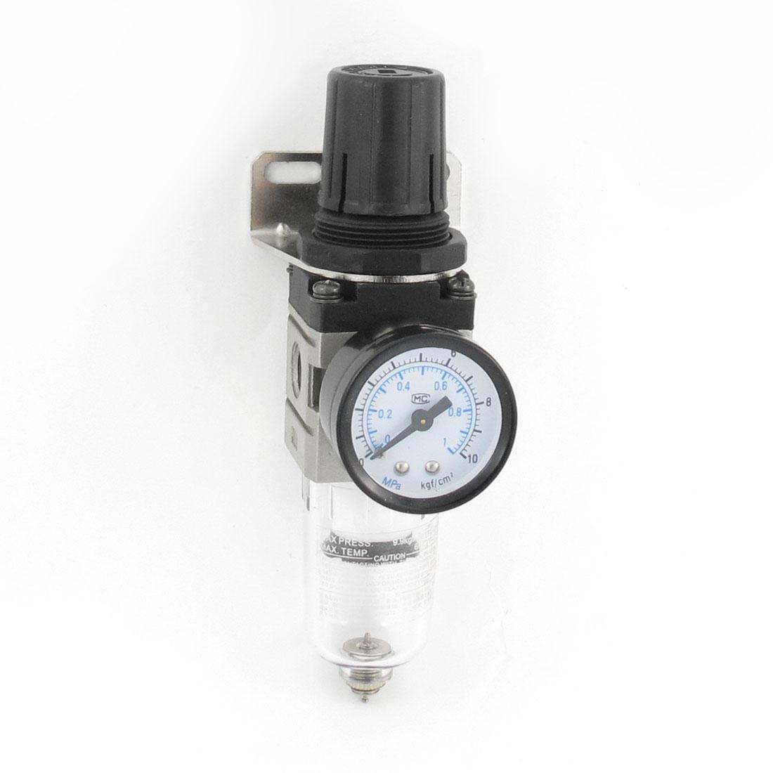 Pneumatic Air Source Treatment Filter Regulator w Pressure Gauge AW2000-02