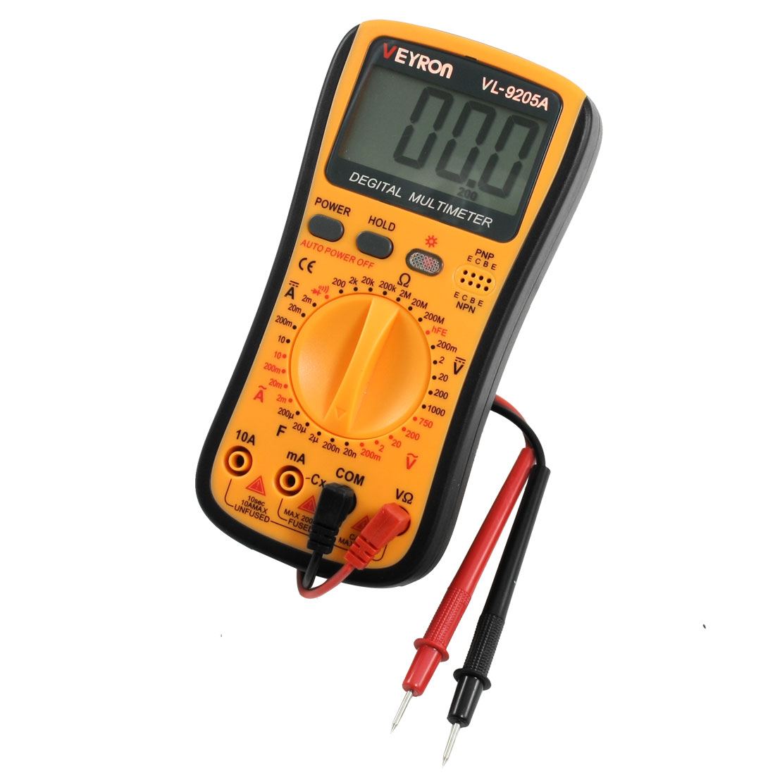2mA-10A DC Current Voltmeter Ammeter Ohmmeter Digital Multimeter w Probe