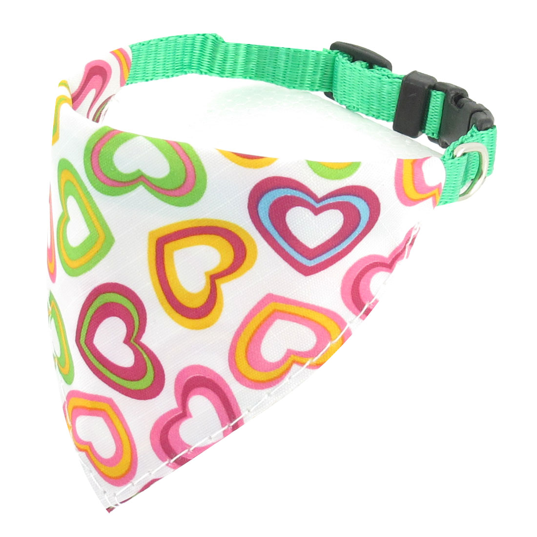 Plastic Side Release Buckle Assorted Color Hearts Pattern Pet Doggie Neck Collar