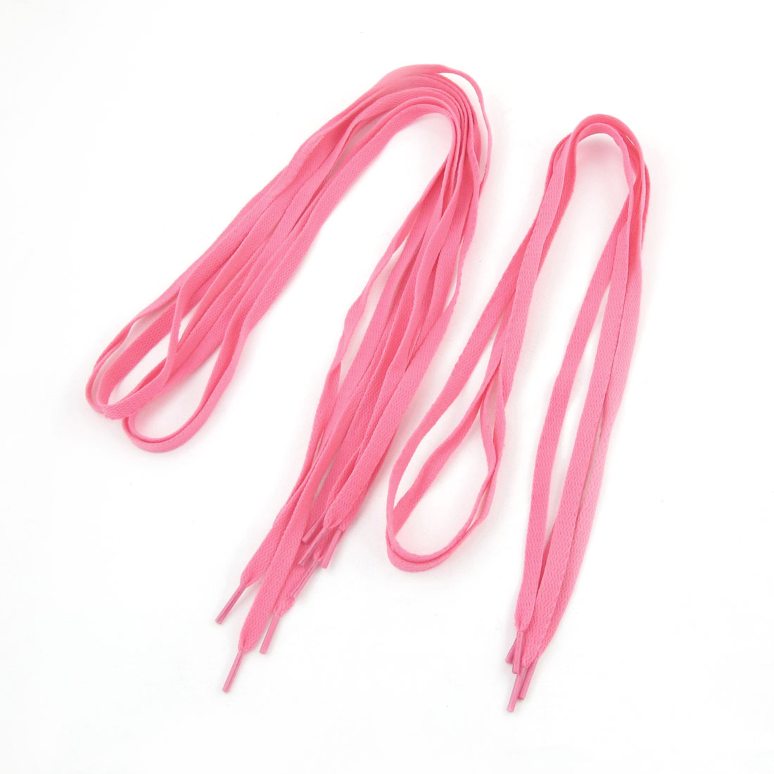 Ladies Plastic Tips 116cm Length Pink Flat Wide Shoe Laces Strings 6 Pcs