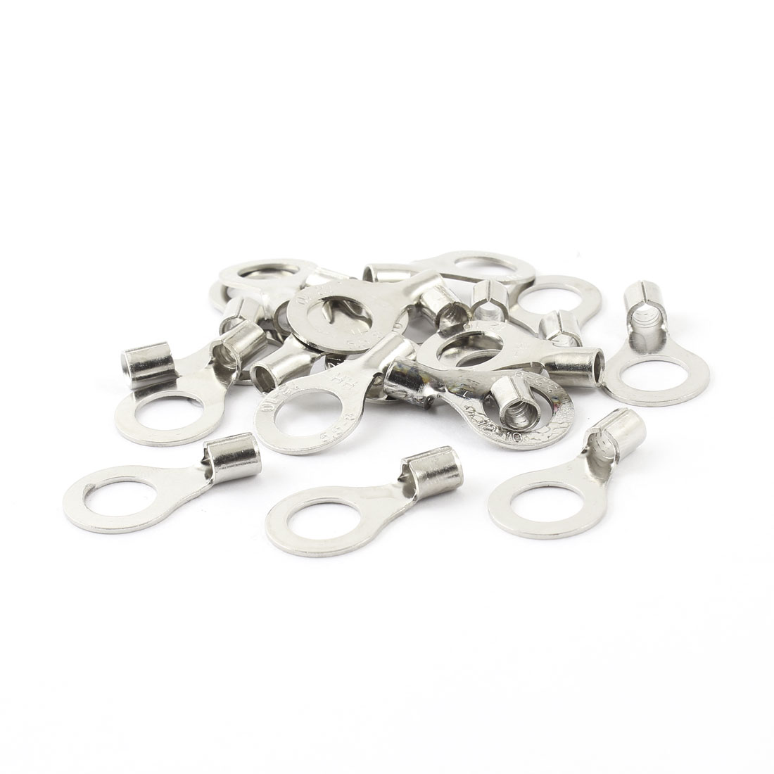 20 Pcs 3.6mm Stud Lug Cable Connector Non-insulated Ring Terminal