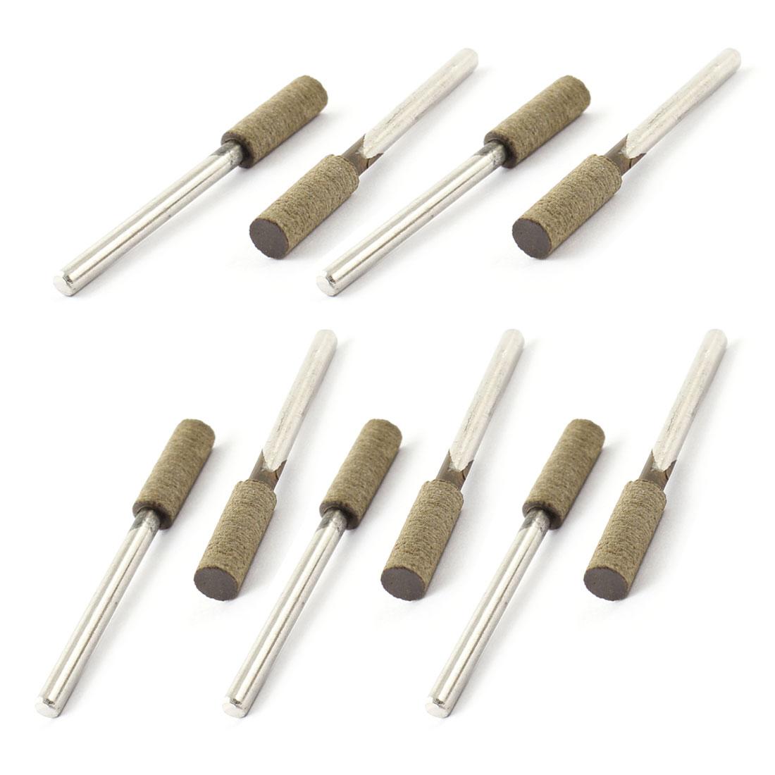 3mm Diameter Metal Shaft Abrasive Bit Buffing Mounted Point 10 Pcs