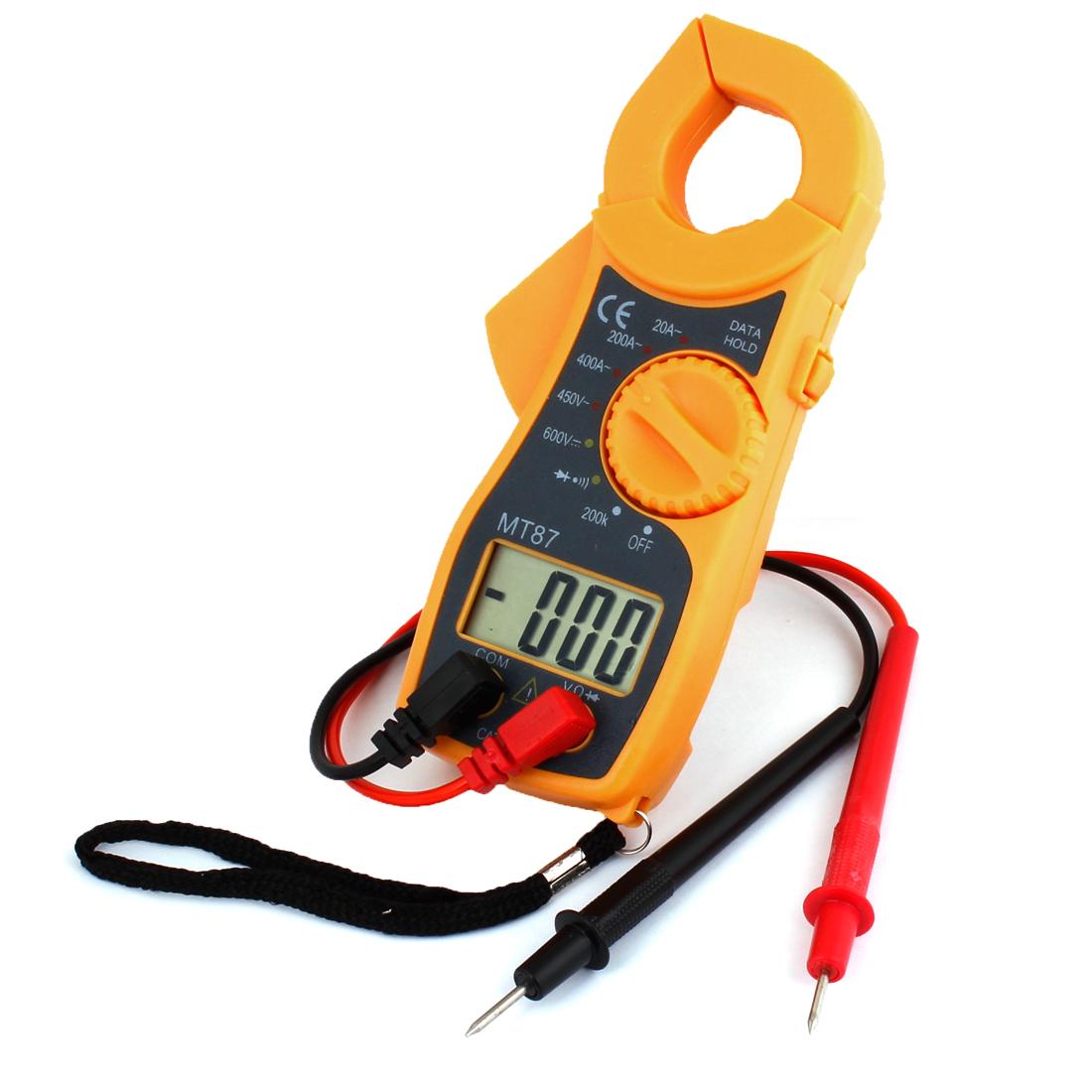 MT87 Multitester Digital Multimeter Ohm AC DC Voltmeter w Test Leads