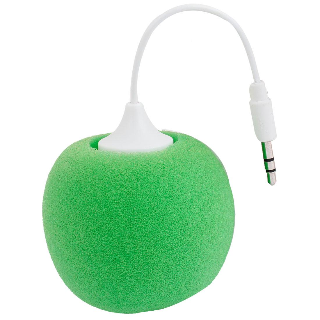 MP4 Mobilephone CD Player Mini 3.5mm Stereo Speaker White Green