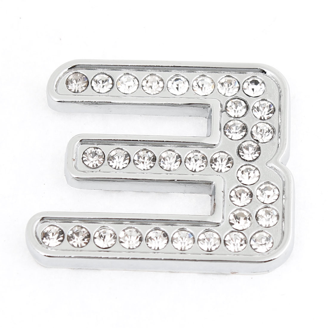 Scooter Auto Surface Decor Silver Tone Number 3 Shaped Rhinestone Sticker