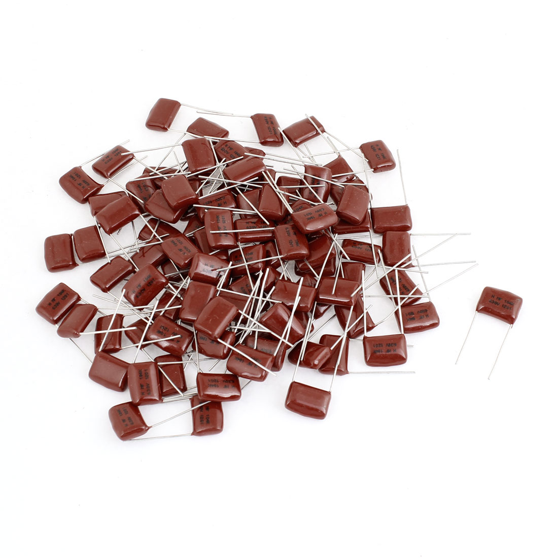 100 Pcs 0.01uF 104K 630V Electric Circuit Polyester Film Capacitors