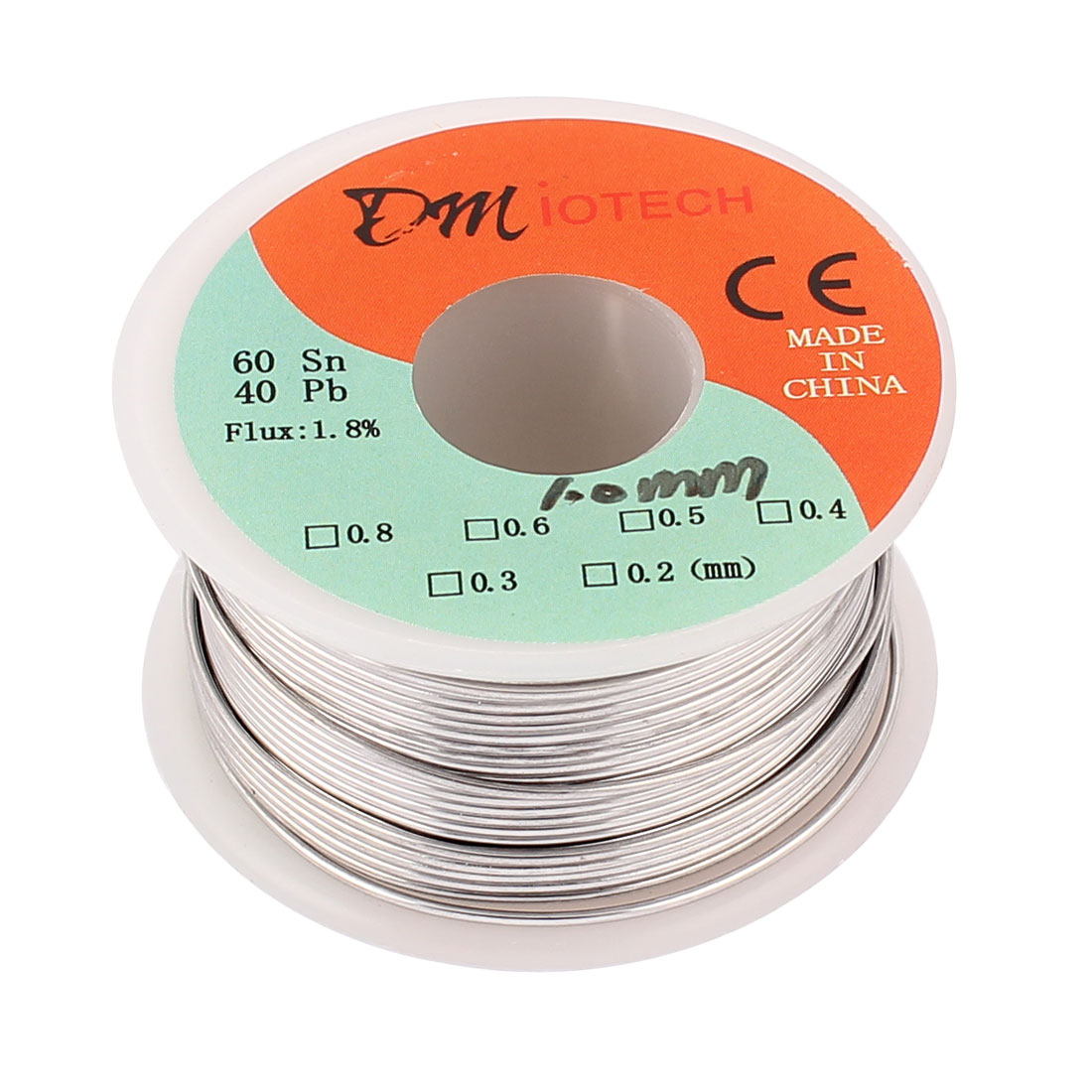 DMiotech 1.0mm 60/40 Rosin Core Flux 1.8% Tin Lead Roll Soldering Solder Wire Reel