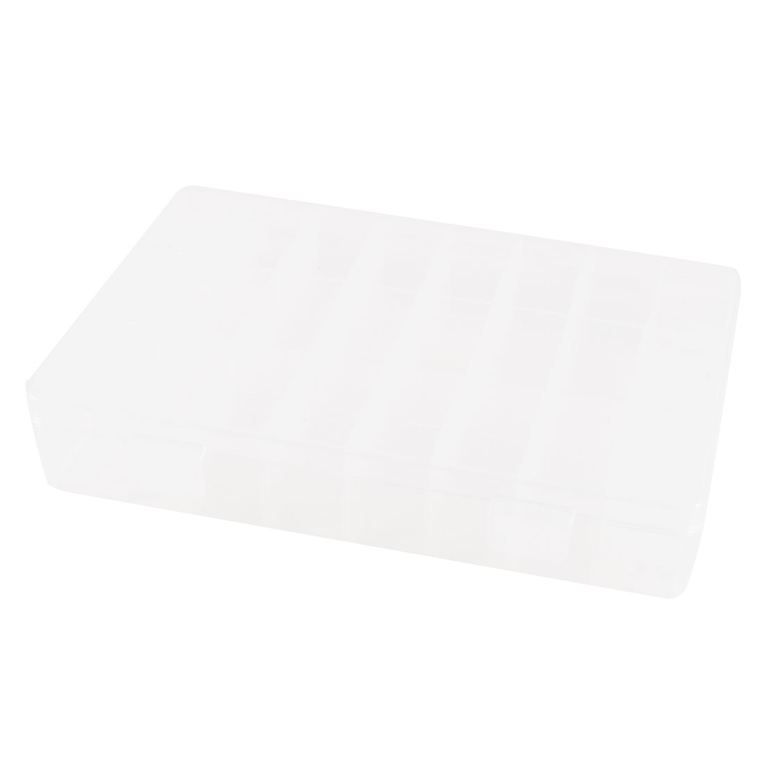 Clear White Plastic 24 Sections Electronic Components Storage Case Organizer