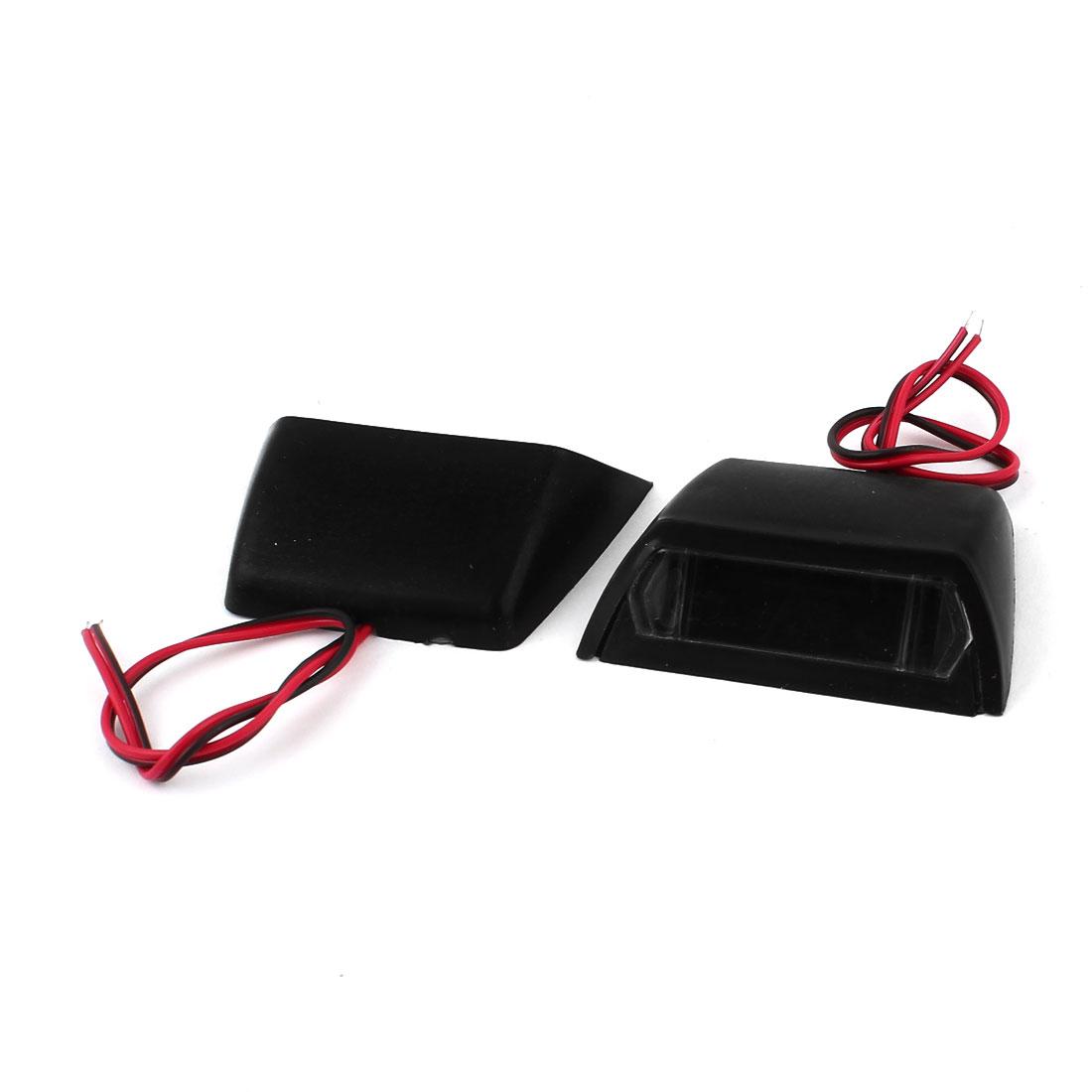 DC 12V Red 4 LED Car Self Adhesive Turn Rear Brake Warning Tail Light Lamp Pair