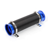 "Auto Universal Black Blue 3.1"" Dia Cold Flexible Expandable Air Intake Pipe"