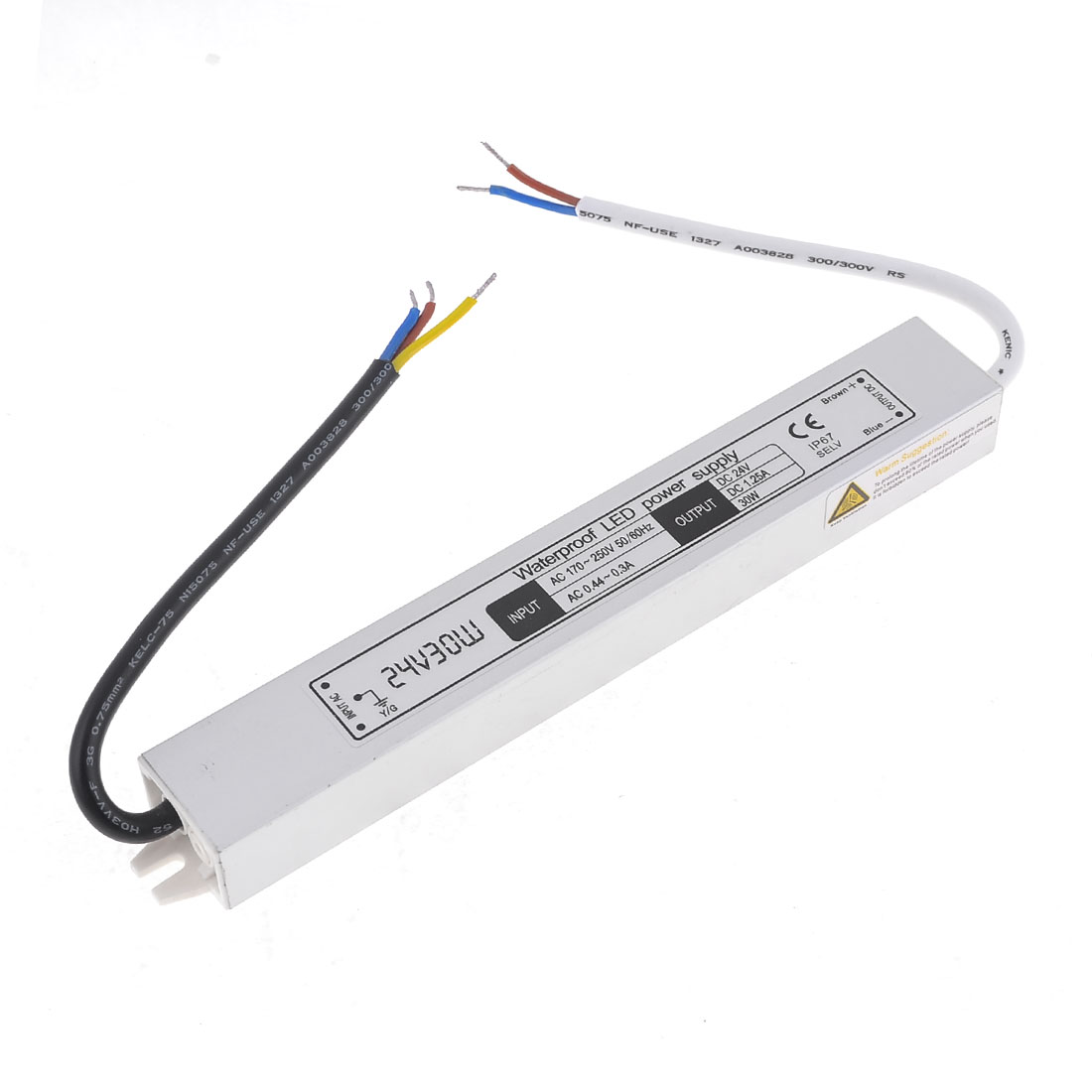 AC170-250V DC24V 1.25A 30W Waterproof Power Supply for LED Lighting