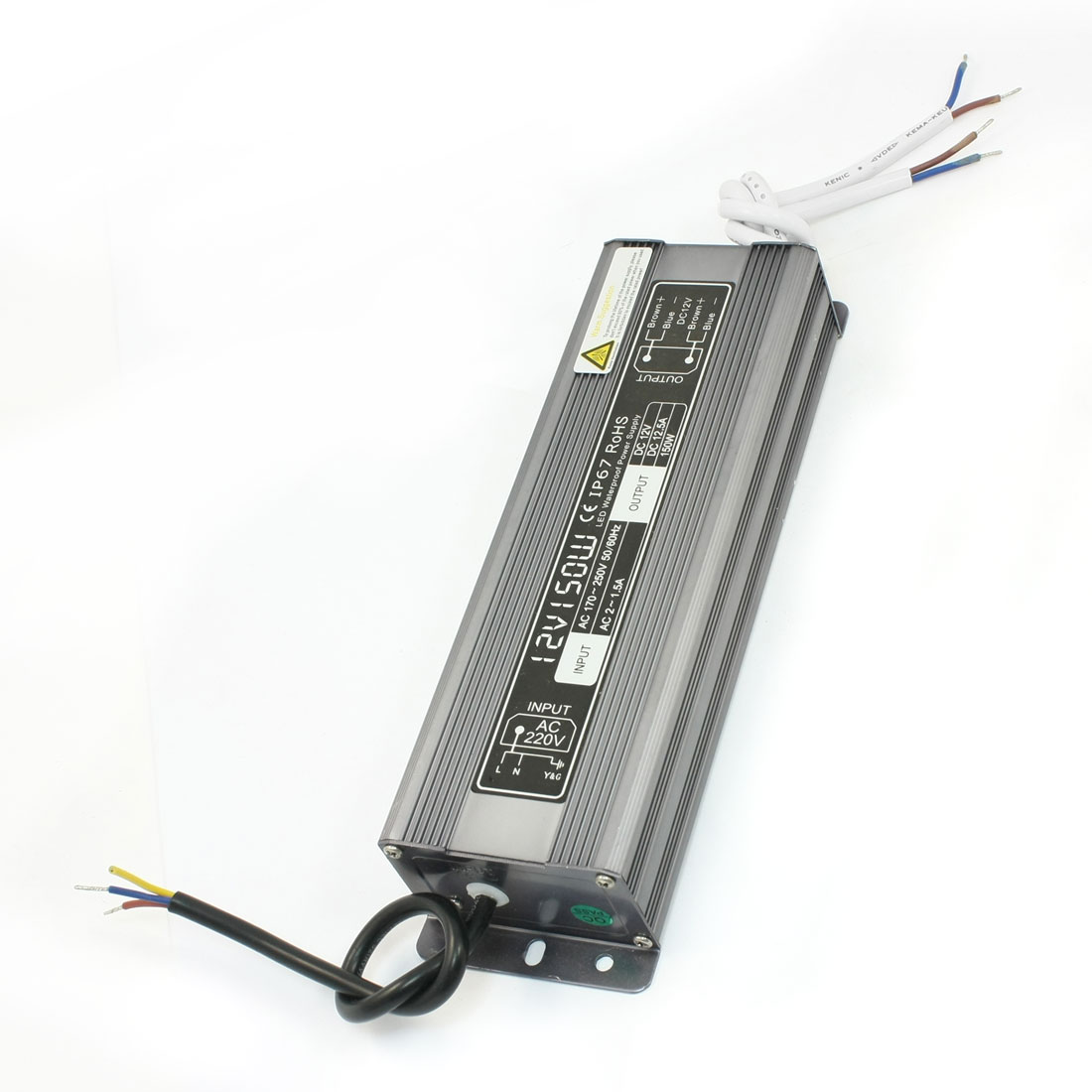 AC 170-250V to DC12V 12.5A 150W Waterproof Transformer LED Power Supply Driver