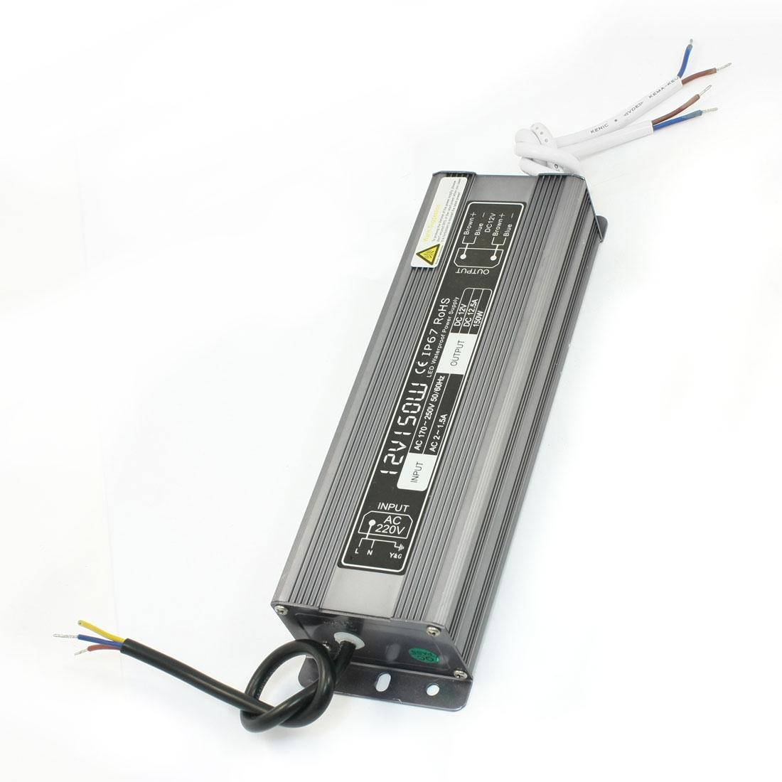AC 170-250V to DC12V 12.5A 150W Waterproof Transformer LED Power Supply Driver