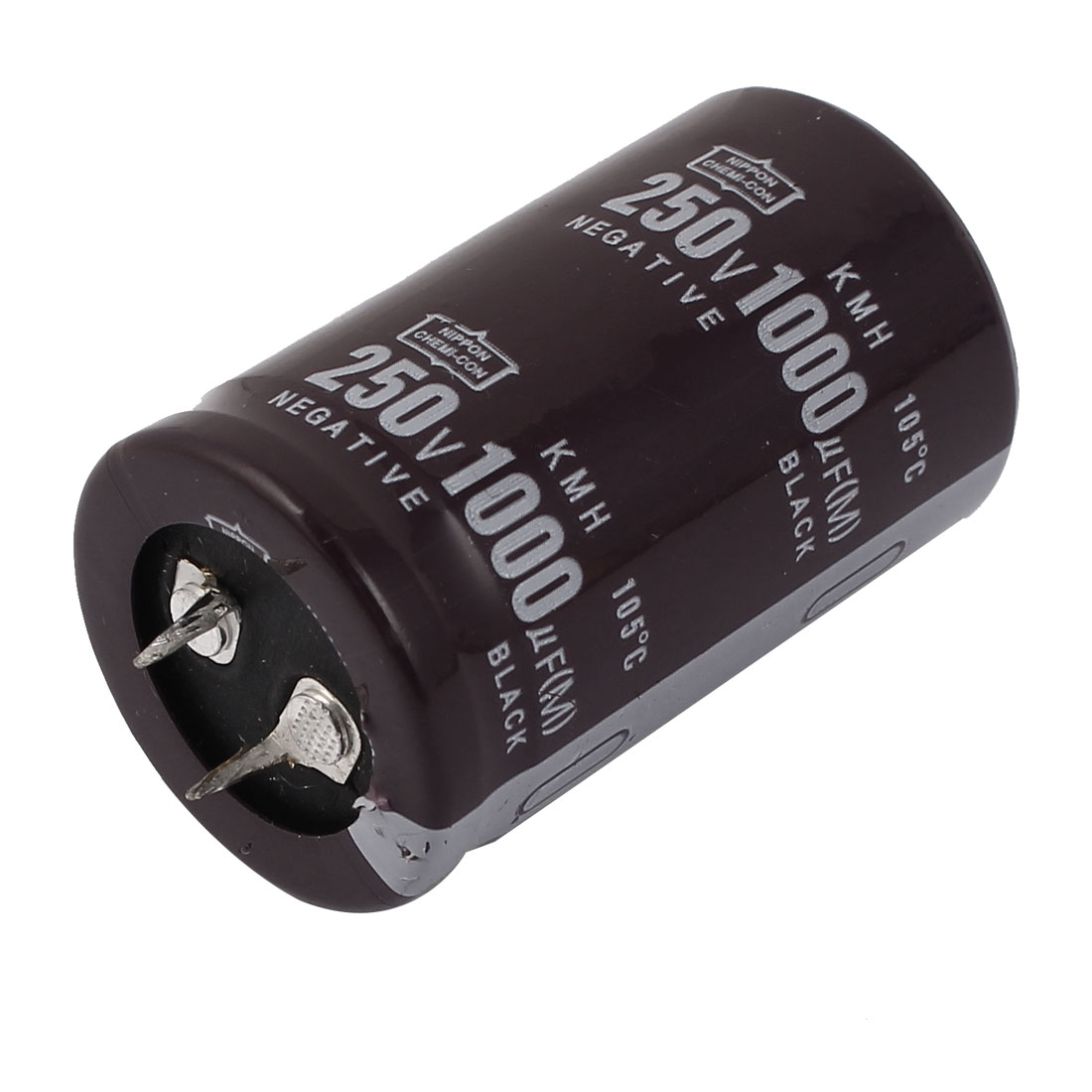 250V 1000uF 105C Aluminum Electrolytic Capacitor Brown 30x50mm