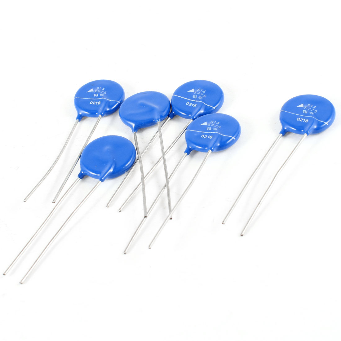 6 Pcs Radial Lead Voltage Dependent Resistor AC 275V S14K275