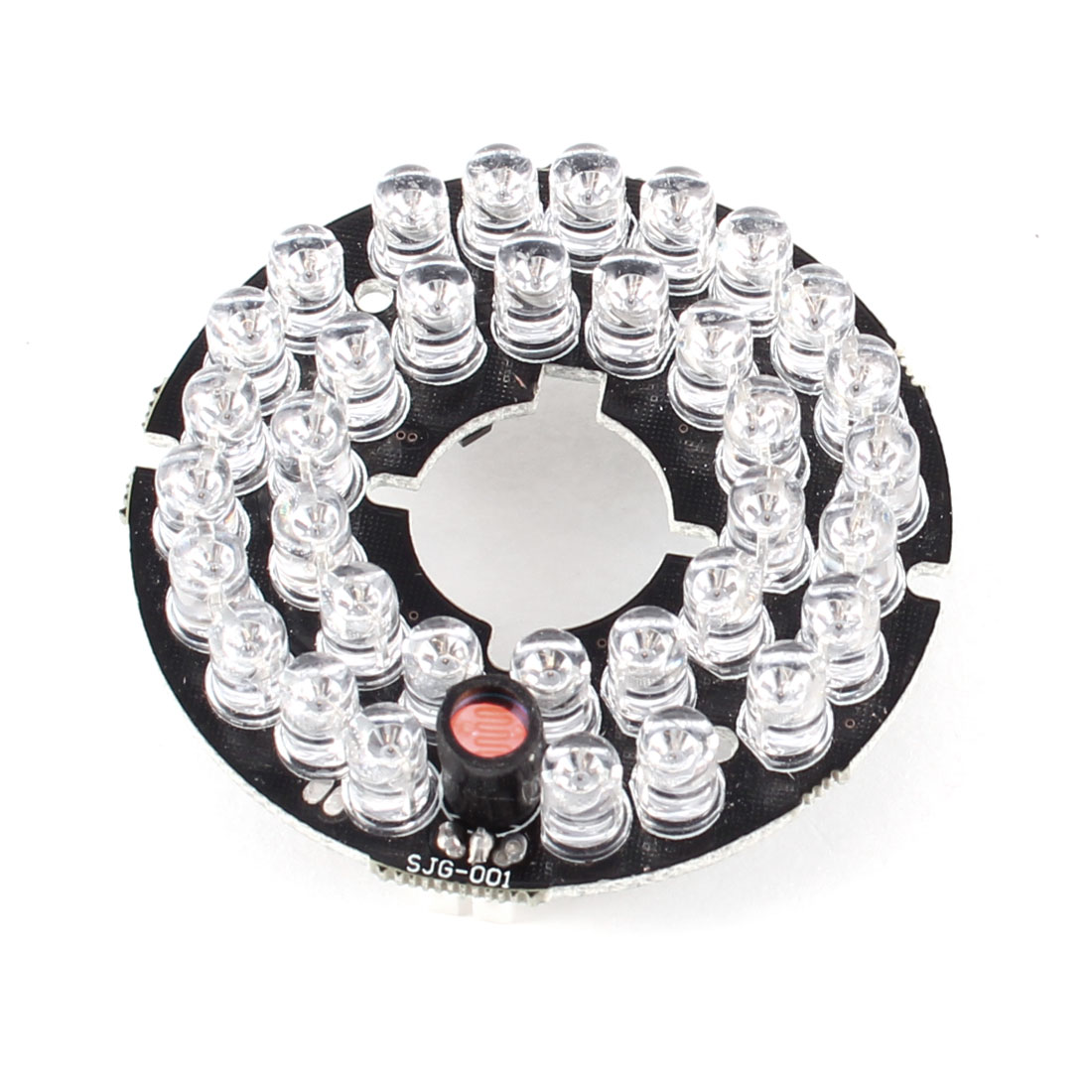 CCTV CCD Camera 90 Degree Bulb Red 35 LEDs Round IR Infrared Board Plate