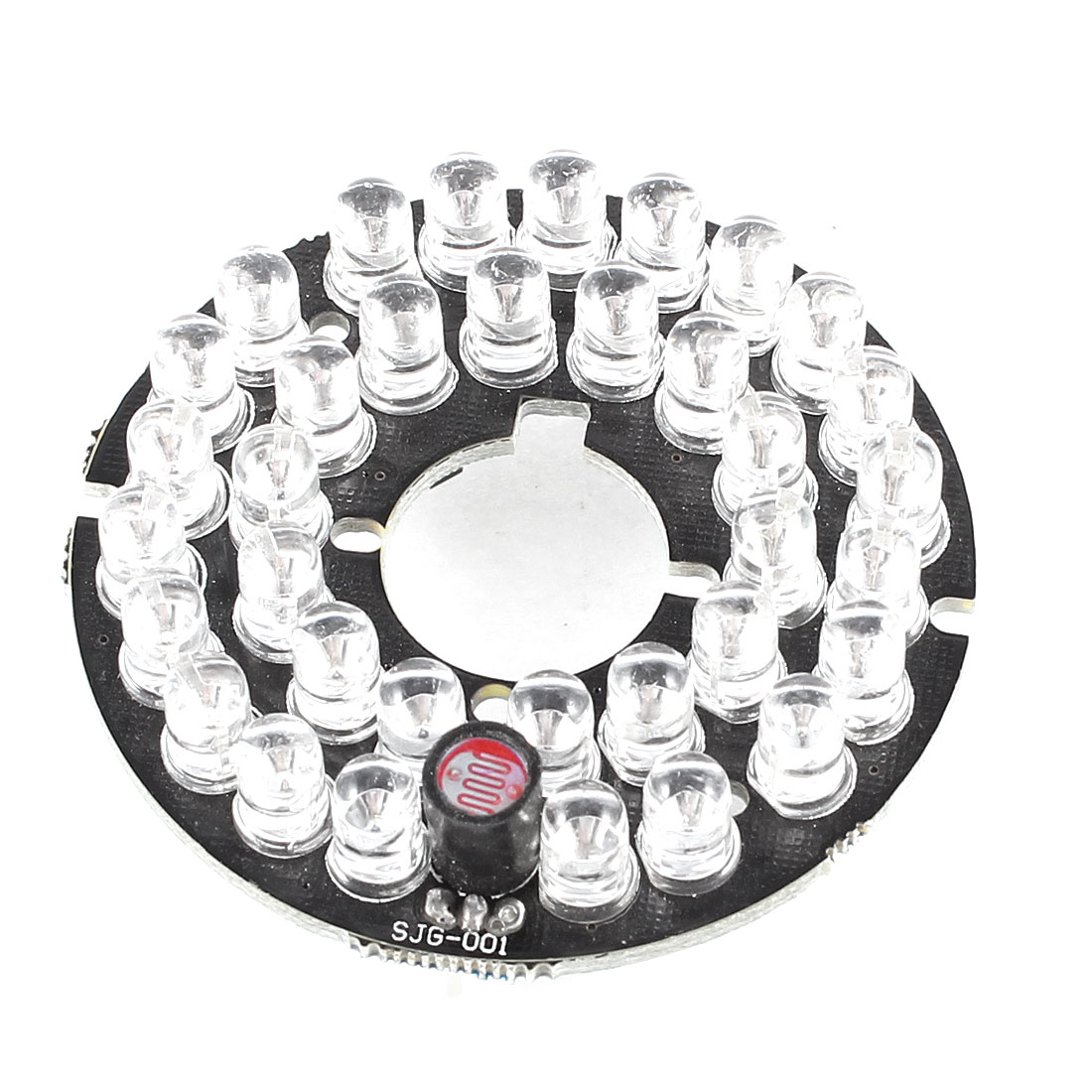 CCTV CCD Camera 60 Degree Bulb Red 35 LEDs Round IR Infrared Board Plate