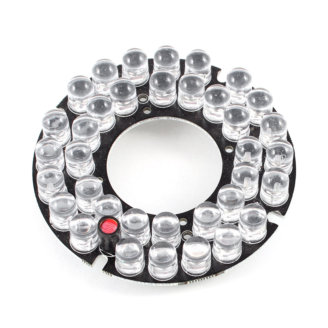 CCTV CCD Camera 30 Degree Bulb Red 36 LEDs Round IR Infrared Board Plate
