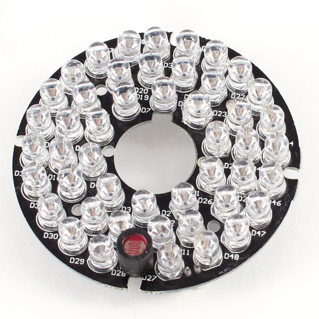 CCTV CCD Camera 60 Degree Bulb Red 48 LEDs Round IR Infrared Board Plate