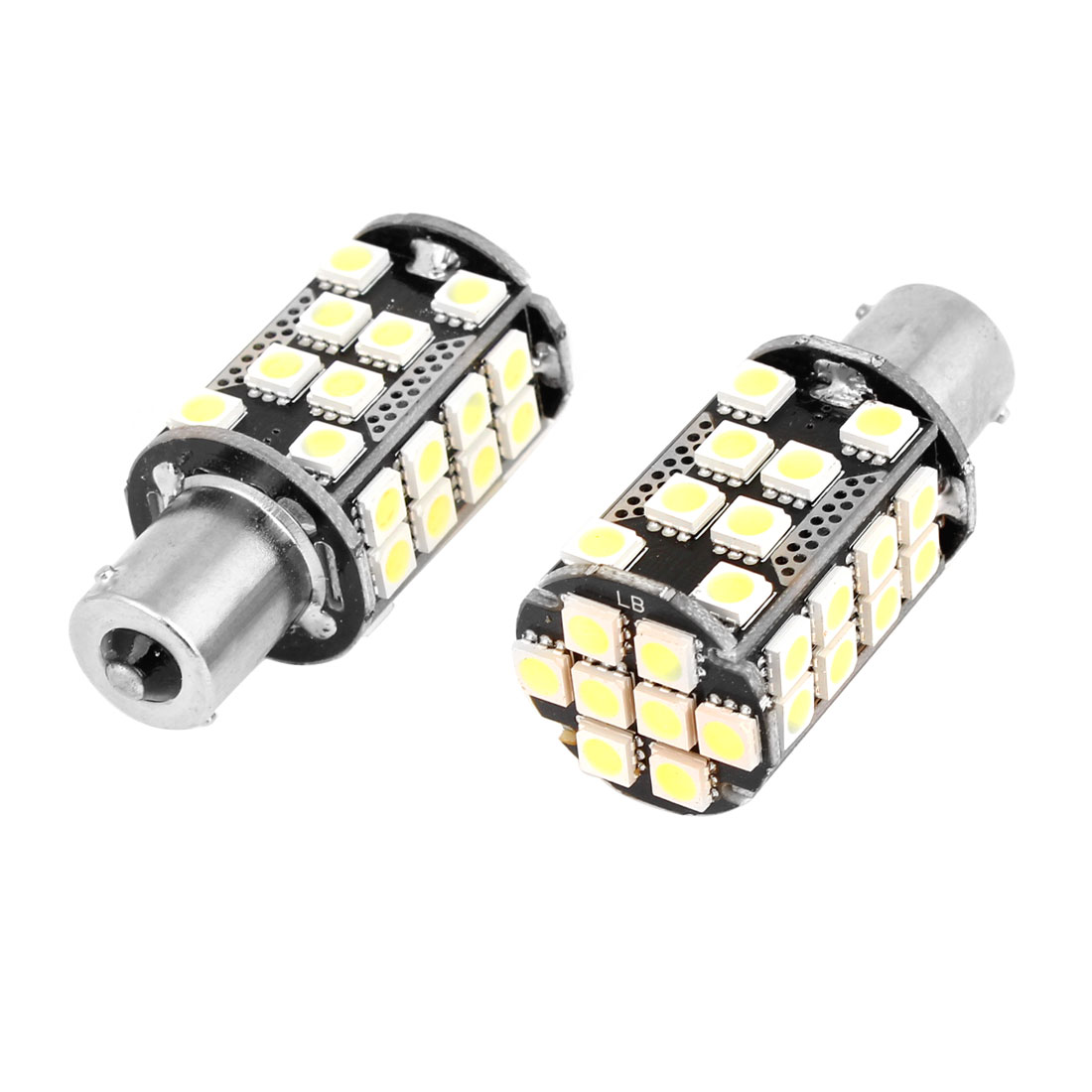 Pair No Error 1156 40 5050 SMD LED Car Truck Turn Indicator Light White