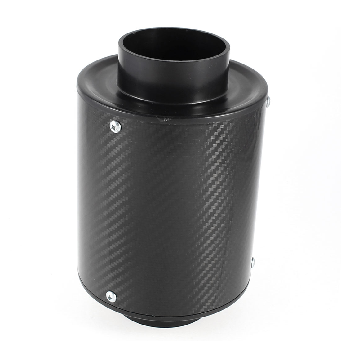 "Auto Car Carbon Fiber Print 76mm 3"" Intake Tapered Air Filter Black"