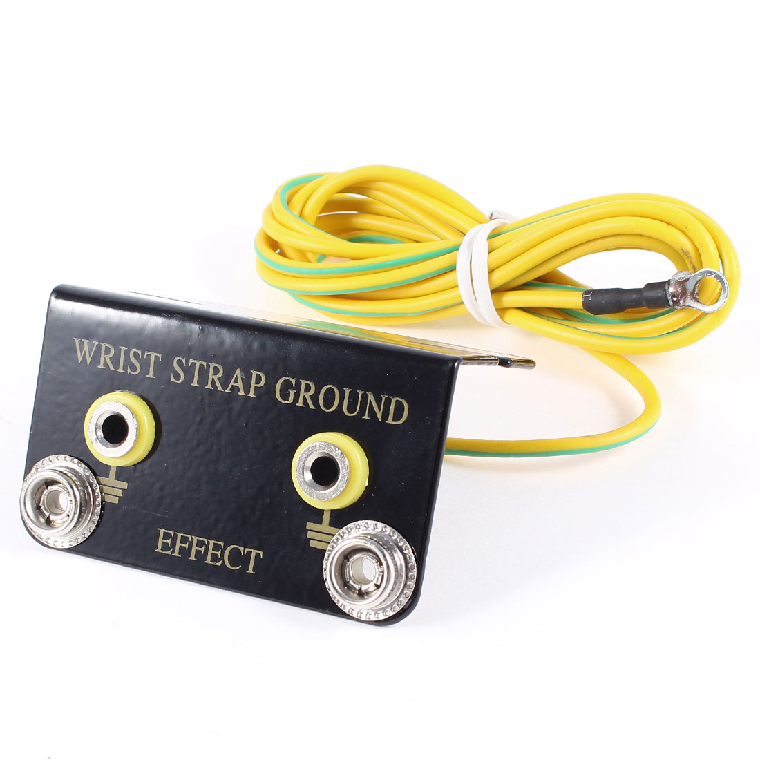 2M Cord Double Banana Connector Ground Socket for Anti Static Wrist Strap Armband