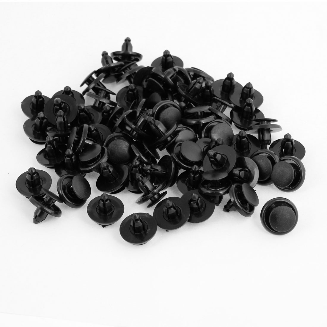 100 Pcs Replacing Parts Plastic Push in Type Fastener Rivets Black