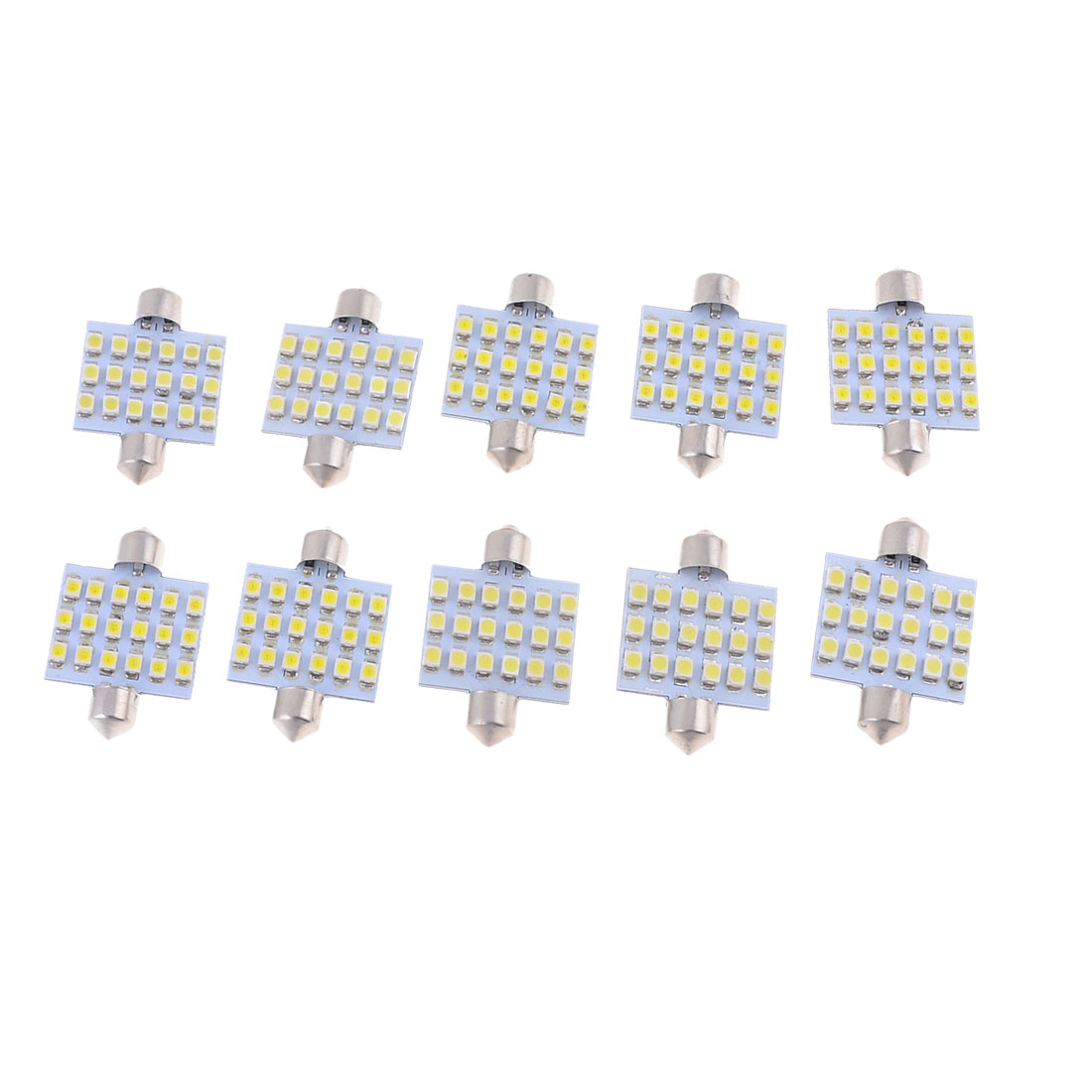 "10 x White 18-SMD 1210 LED 1.54"" 39mm Car Festoon Dome Lights 6423 6461 6418"
