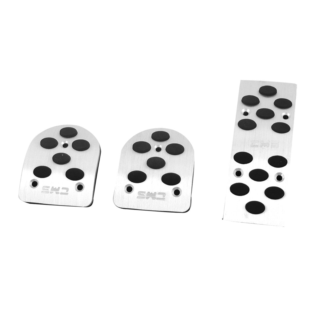 3 Pcs Stainless Steel Automatic Gas Brake Pedal Cover for Auto Cars