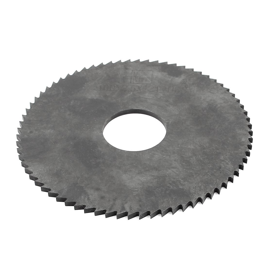 Hand Tool 100mm x 22mm x 2.5mm 72 Peg Teeth HSS Slitting Saw Cutter