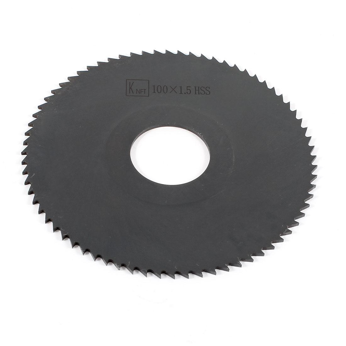 Hand Tool 100mm x 27mm x 1.5mm 72 Peg Teeth HSS Slitting Saw Cutter