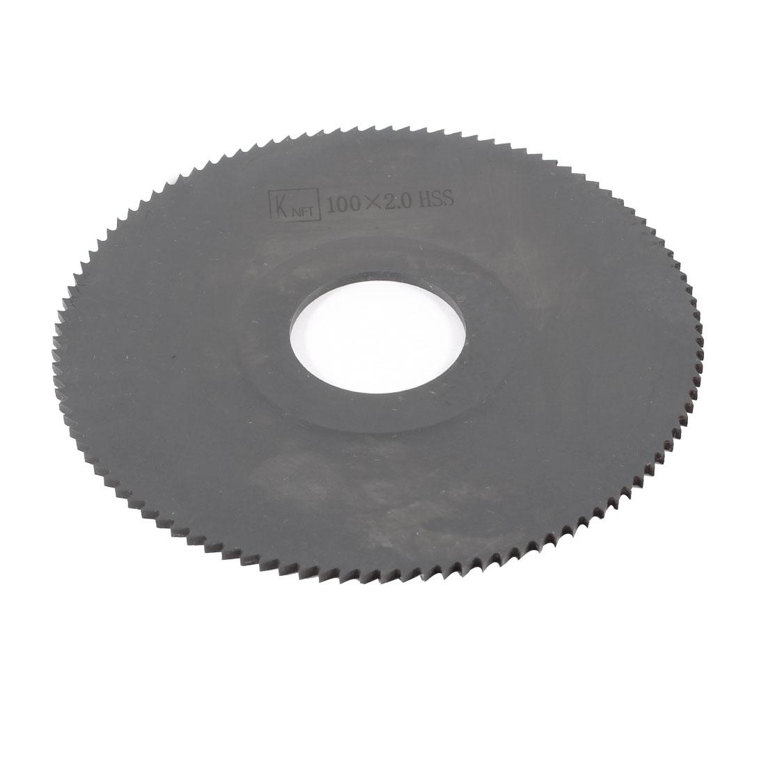 Hand Tool 100mm x 27mm x 2mm 108 Peg Teeth HSS Slitting Saw Cutter