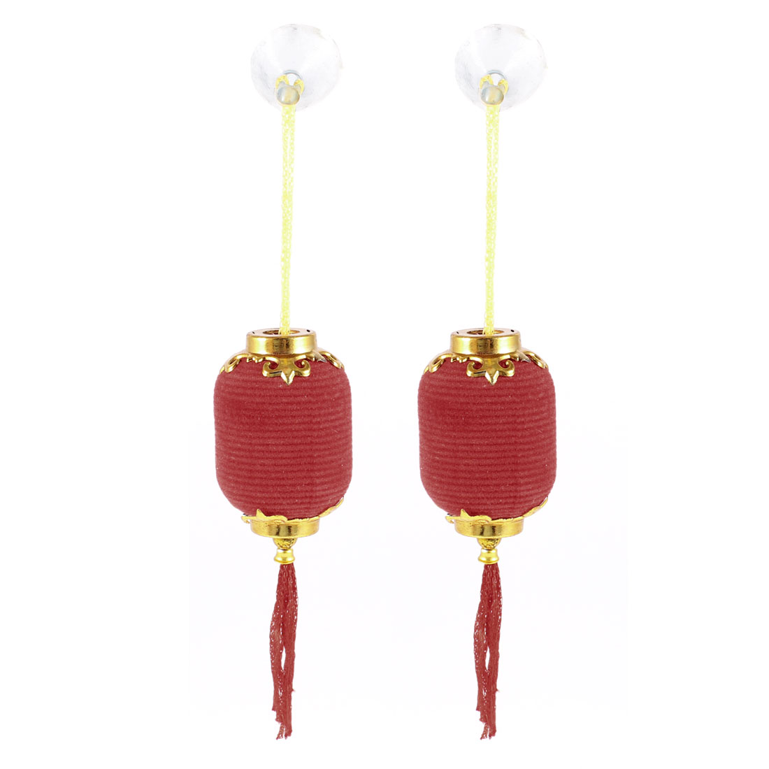 Festival Suction Cup Hanging Chinese Lantern Decoration Red 5cm Length 2pcs