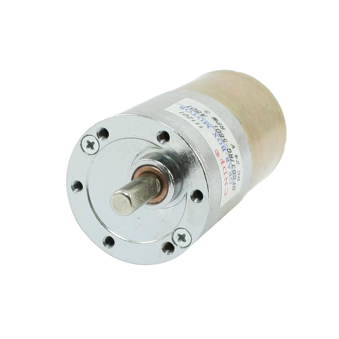 DFGB37RG-560i Cylinder Shape DC 24V Speed 5 RPM Geared Motor