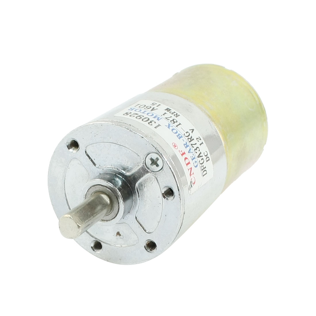 DFGA37RG-187i Cylinder Shape DC 12V Speed 15 RPM Geared Motor
