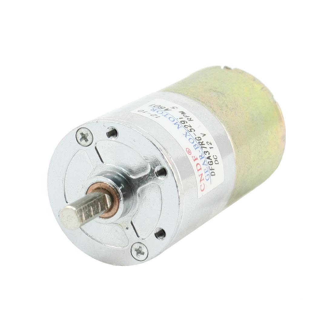 DFGA37RG-529i Cylinder Shape DC 12V Speed 5 RPM Geared Motor