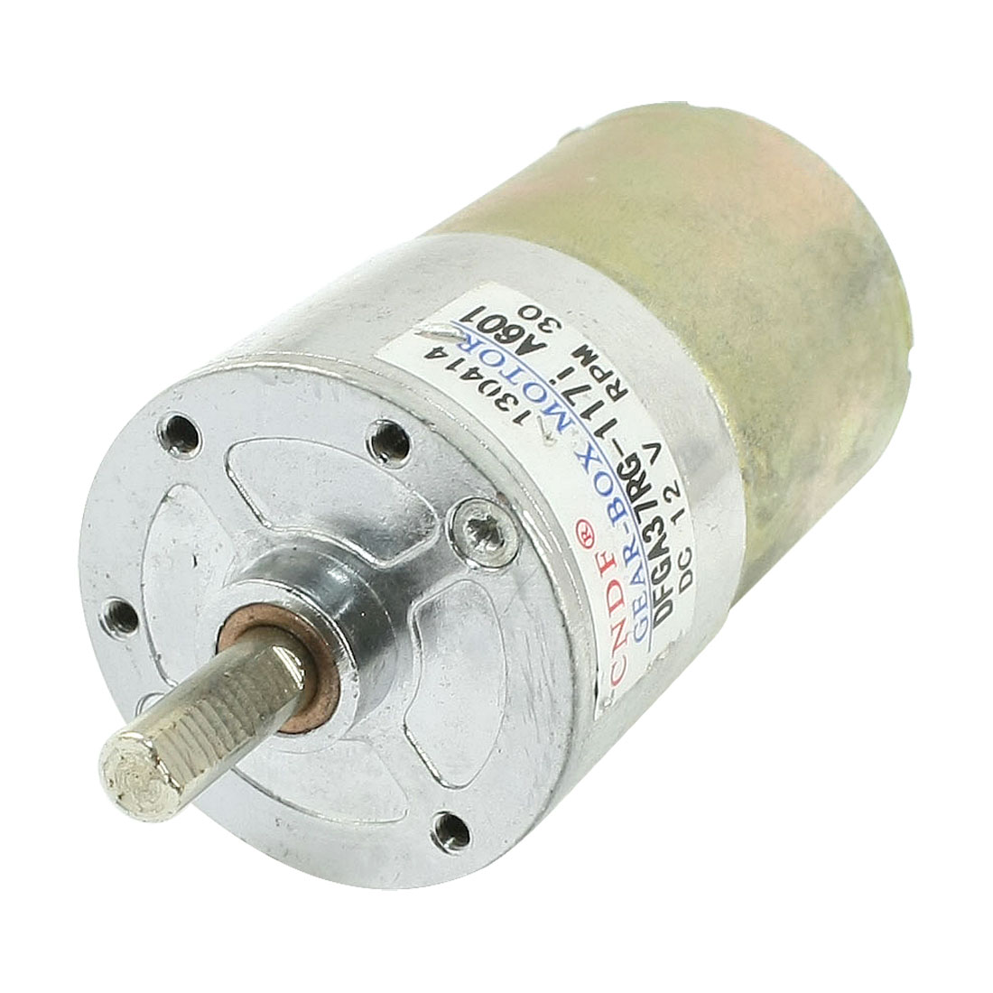 DFGA37RG-117i Cylinder Shape DC12V Speed 30RPM Geared Motor