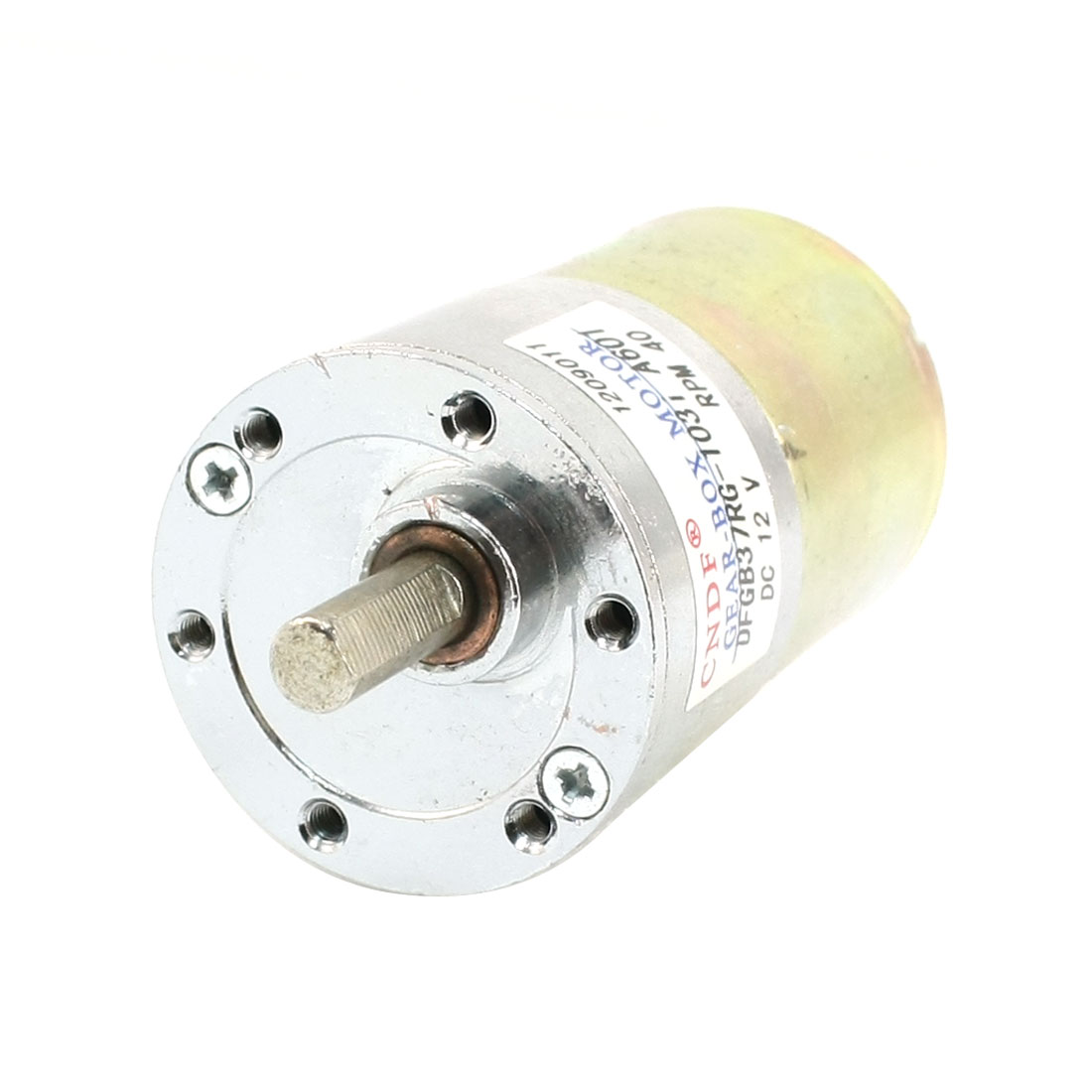 DFGB37RG-103i Cylinder Shape DC 12V Speed 40 RPM Geared Motor