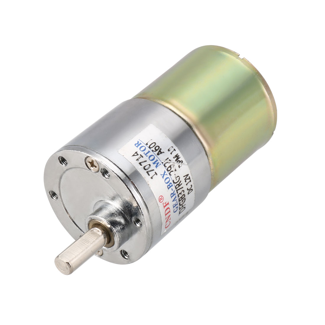 DFGB37RG-240i Cylinder Shape DC 12V Speed 10 RPM Geared Motor