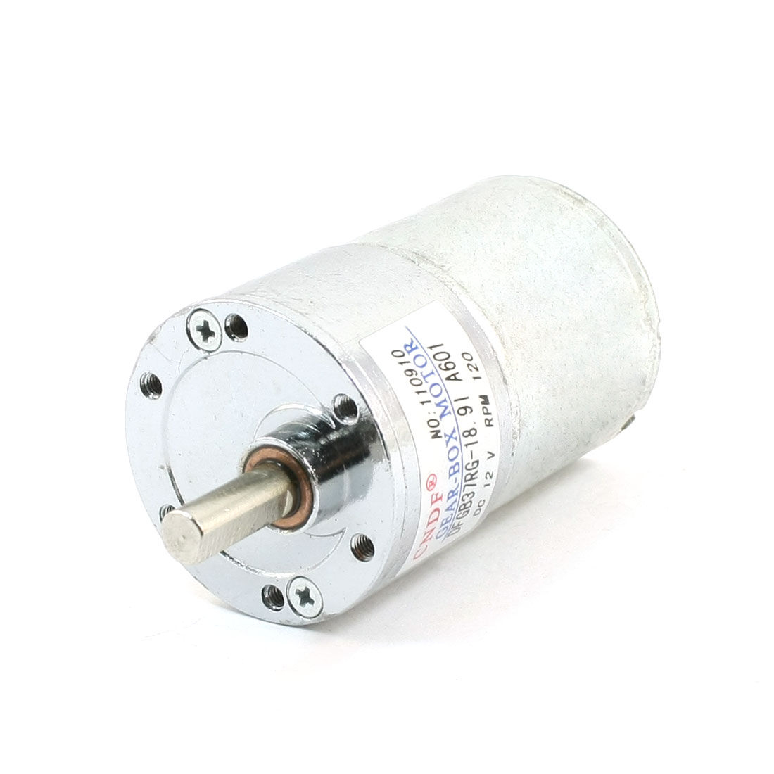 DFGB37RG-18.9l Cylinder Shape DC12V Speed 120RPM Geared Motor