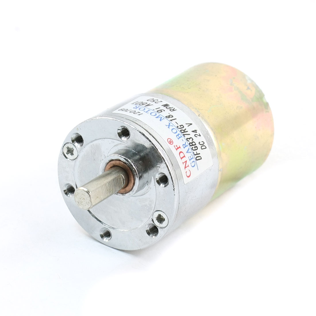 DFGB37RG-18.9i Cylinder Shape DC24V Speed 250RPM Geared Motor