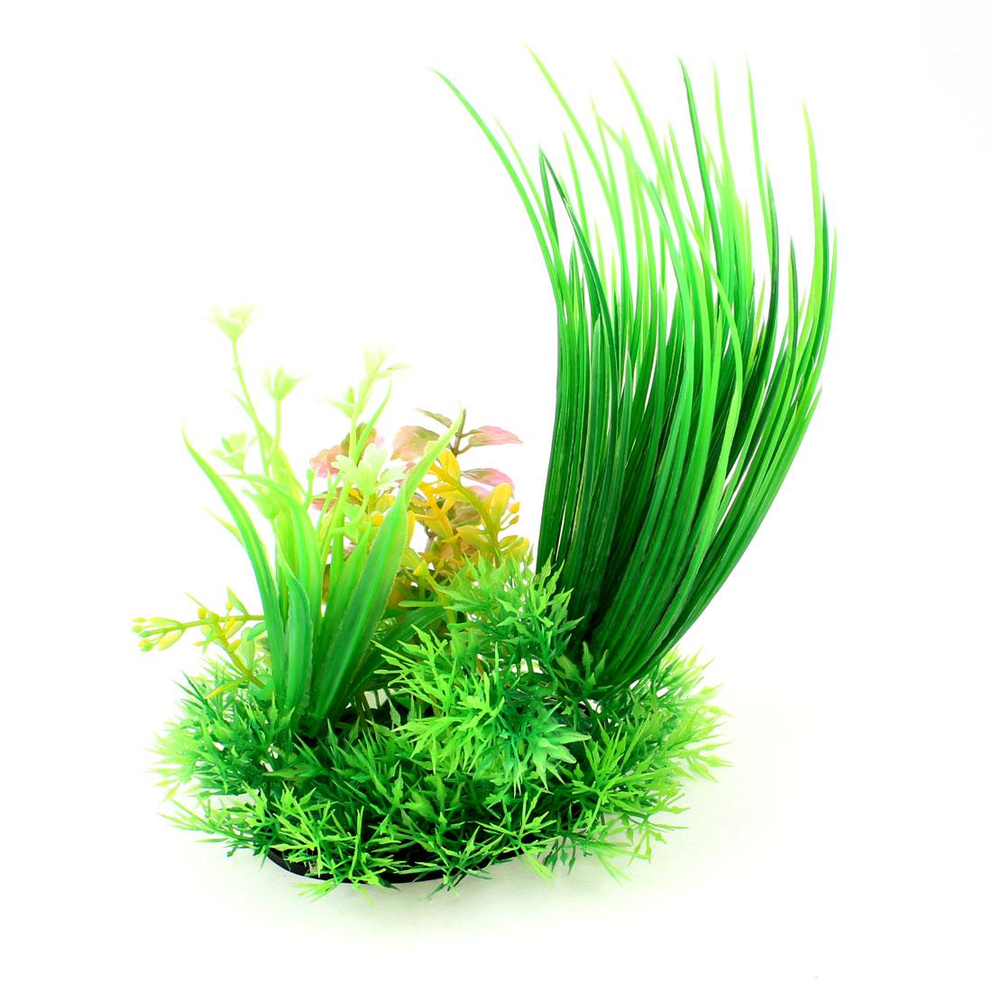 "Aquarium Fish Tank 5.9"" High Manmade Water Plant Flower Decoration Green Pink"
