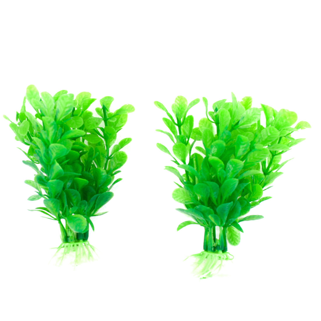 2 Pcs Aquarium Green Simulation Plastic Aquatic Grass Ornament