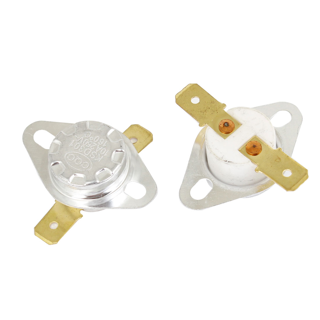 2 Pcs Replaceable 160C Temperature Control Switch Ceramic Thermostat