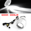 6000K 3000 LM White Angel Eye Motorcycle HID Projector Lens Lamp Light Kit 12V